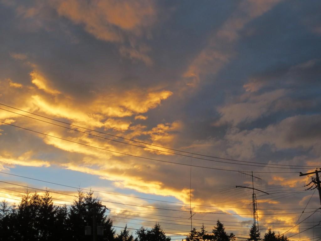 Sonnenuntergang über Courtenay (September)