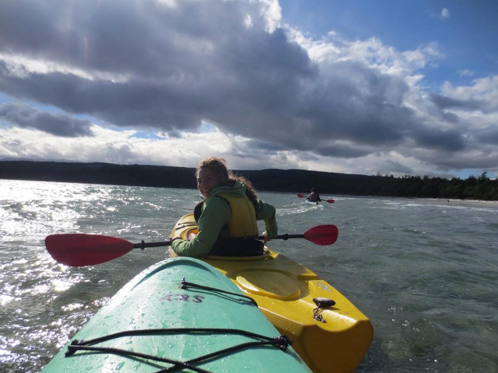 Kanufahrt in Tribune Bay auf Hornby Island (September)
