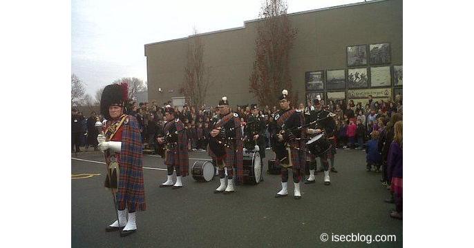 Rememberence Day Zeremonie in Courtenay