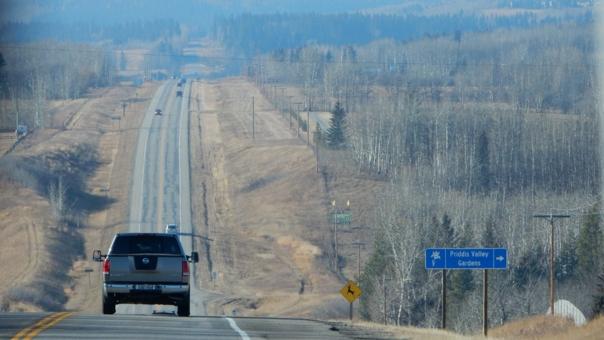 Eine Straße in Kanada