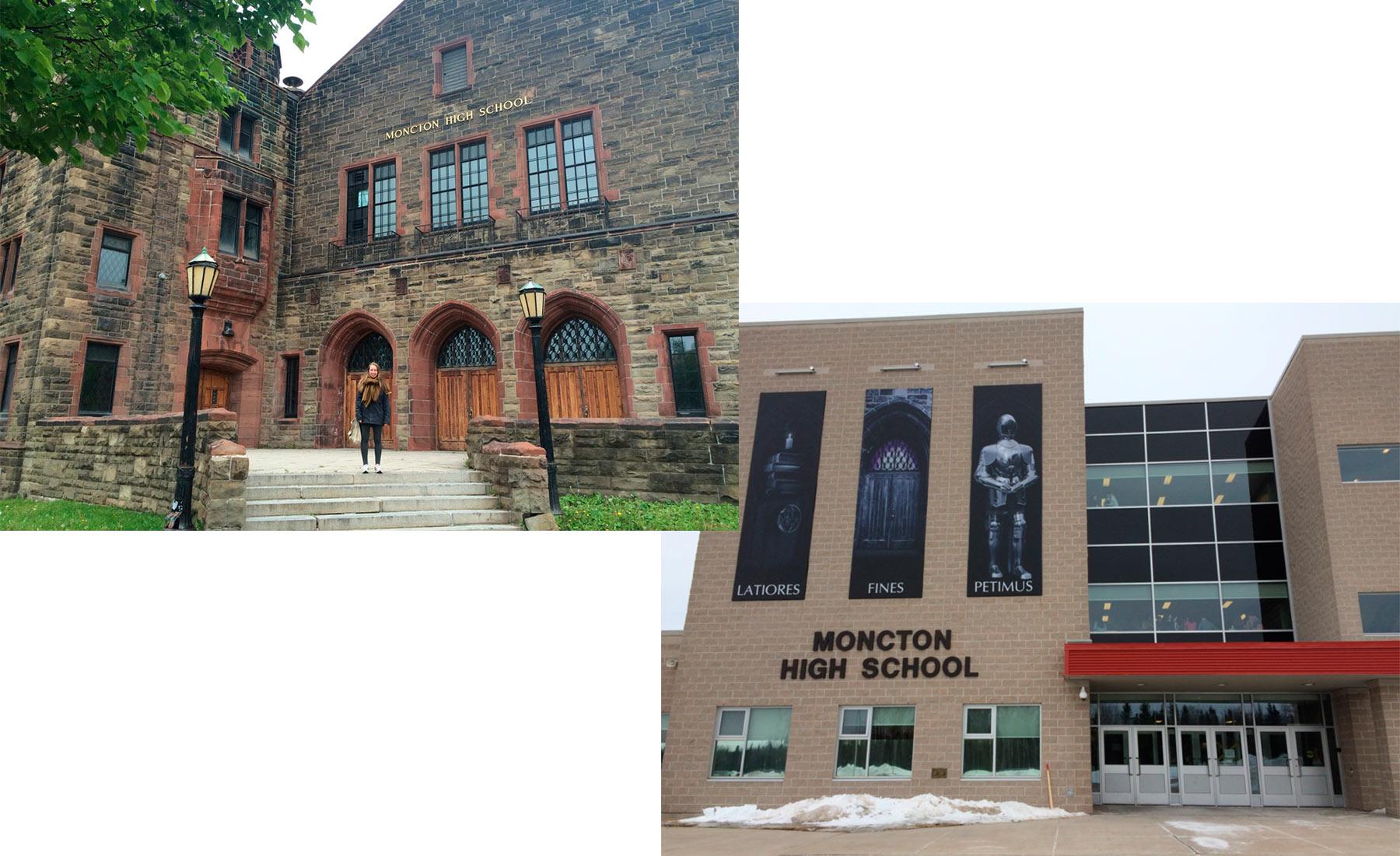 Alte und neue Moncton High School